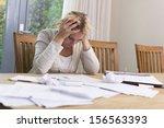 unpaid bills | Shutterstock . vector #156563393