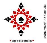 fine spade card suit snowflake. ... | Shutterstock .eps vector #156581903