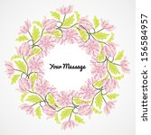 abstract flower background with ... | Shutterstock .eps vector #156584957