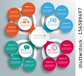 infographic design with colored ... | Shutterstock .eps vector #156589697