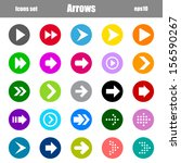 set of arrows with circle in... | Shutterstock .eps vector #156590267