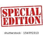 special edition grunge rubber... | Shutterstock .eps vector #156592313