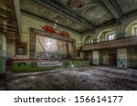 Old Theater Inside Decayed...