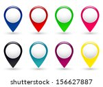 set of colorful pointers on...   Shutterstock . vector #156627887