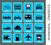 transportation icon | Shutterstock .eps vector #156630113