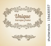 vector vintage baroque... | Shutterstock .eps vector #156630557
