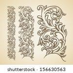 vector vintage baroque... | Shutterstock .eps vector #156630563