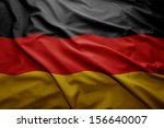 waving colorful german flag | Shutterstock . vector #156640007