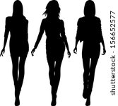 vector set 5 silhouette of...