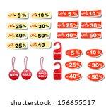 set sale tags. vector discount... | Shutterstock .eps vector #156655517
