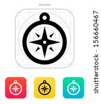 compass icon. navigation sign.... | Shutterstock .eps vector #156660467