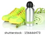 different tools for sport... | Shutterstock . vector #156666473
