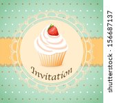 Vector Illustration  Cake On...