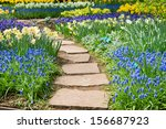 Stone Path Winding In Spring...