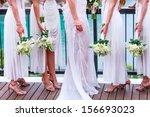 bride with bridesmaids | Shutterstock . vector #156693023