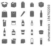 packaging icons on white...