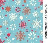 openwork snowflakes seamless... | Shutterstock .eps vector #156706073