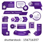 set of blue violet vector... | Shutterstock .eps vector #156716357