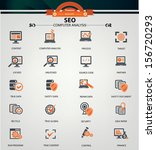 computer analysis icons orange... | Shutterstock .eps vector #156720293