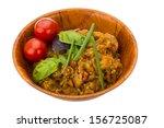 aubergine caviar with basil and ...