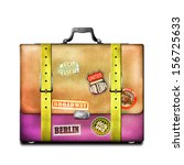 leather vintage shoulder bag | Shutterstock . vector #156725633