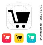 shopping cart icon. vector...