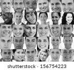 head shot profile pictures in... | Shutterstock . vector #156754223