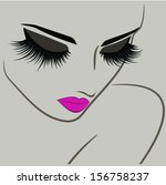 beauty icon with long lashes... | Shutterstock .eps vector #156758237