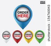vector   order here icons for... | Shutterstock .eps vector #156760043