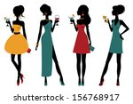 an illustration of chic party... | Shutterstock .eps vector #156768917