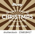 christmas greeting art | Shutterstock .eps vector #156818417