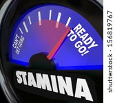 the word stamina on a fuel... | Shutterstock . vector #156819767