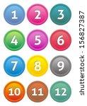 set of coloured calendar icons... | Shutterstock .eps vector #156827387