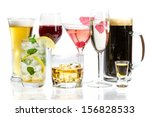 different kinds of alcohol on a ... | Shutterstock . vector #156828533