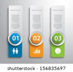 set of paper banners   tags for ... | Shutterstock .eps vector #156835697