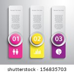 set of paper banners   tags for ... | Shutterstock .eps vector #156835703