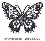 lacy butterfly. raster version. | Shutterstock . vector #156835727