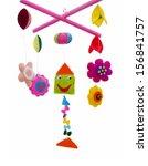 baby mobile   kids toys | Shutterstock . vector #156841757