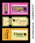 cinema movie tickets | Shutterstock . vector #156842537