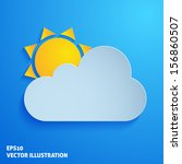 weather paper icon on blue... | Shutterstock .eps vector #156860507