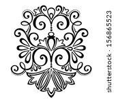 vector deco abstract symmetric...   Shutterstock .eps vector #156865523
