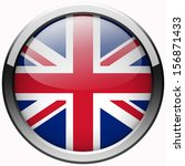uk flag gel metal button | Shutterstock . vector #156871433