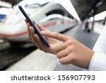 close up of hands woman using... | Shutterstock . vector #156907793