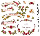 romantic collection with labels ... | Shutterstock .eps vector #156943523