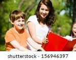 image of children with nurse...   Shutterstock . vector #156946397