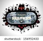 halloween frame | Shutterstock .eps vector #156952433