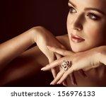 portrait of beautiful young... | Shutterstock . vector #156976133