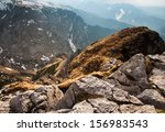 View Of The High Mountains Wit...