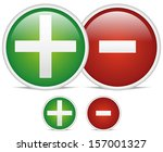 plus  minus  add  subtract ... | Shutterstock .eps vector #157001327