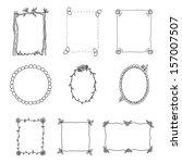 hand drawn frames. set 2.... | Shutterstock . vector #157007507